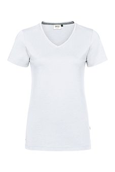 Damen-V-Shirt Cotton-Tec